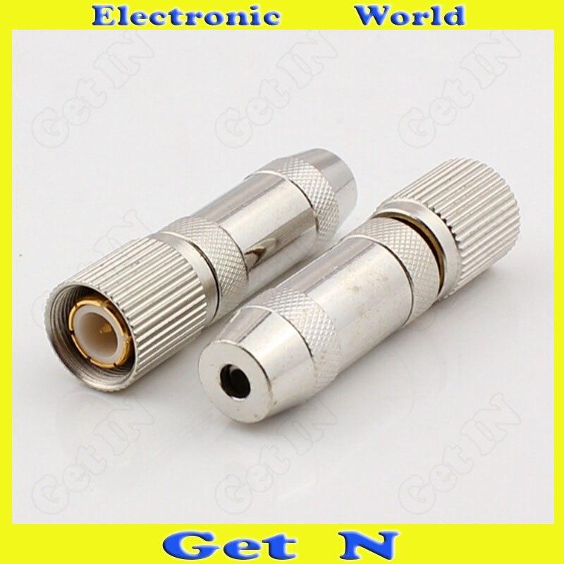 20 قطعة L9-1-1 2 ميجا بايت 2 متر RF اقناع موصل موصل SYV75-1-1 لكابل الفيديو اقناع