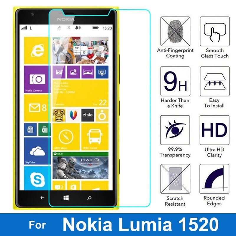 2.5D vidrio templado a prueba de explosiones para Microsoft Nokia Lumia 1520 Bandit 1520,1 1520,2 N1520 película protectora de pantalla