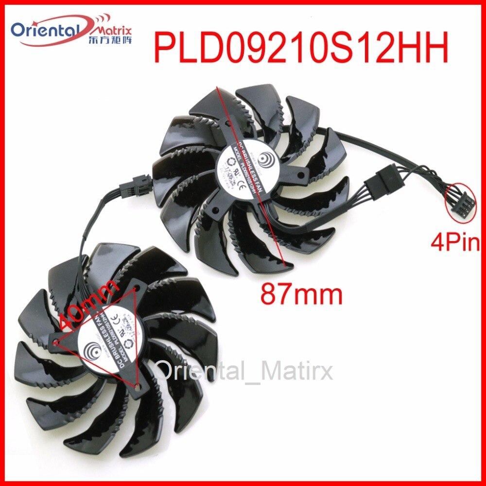 PLD09210S12HH 12В 0.40A 87 мм для Gigabyte RX480 RX570 GTX1070 GTX1060 GTX1050 GTX1050TI Вентилятор Охлаждения видеокарты WINDFORCE