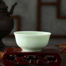 Tasse de thé en céramique en céladon   1 pièce, service à thé Dingyao, ensemble de tasses Puer, four en céramique, porcelaine chinoise de qualité supérieure, tasses à thé en céladon