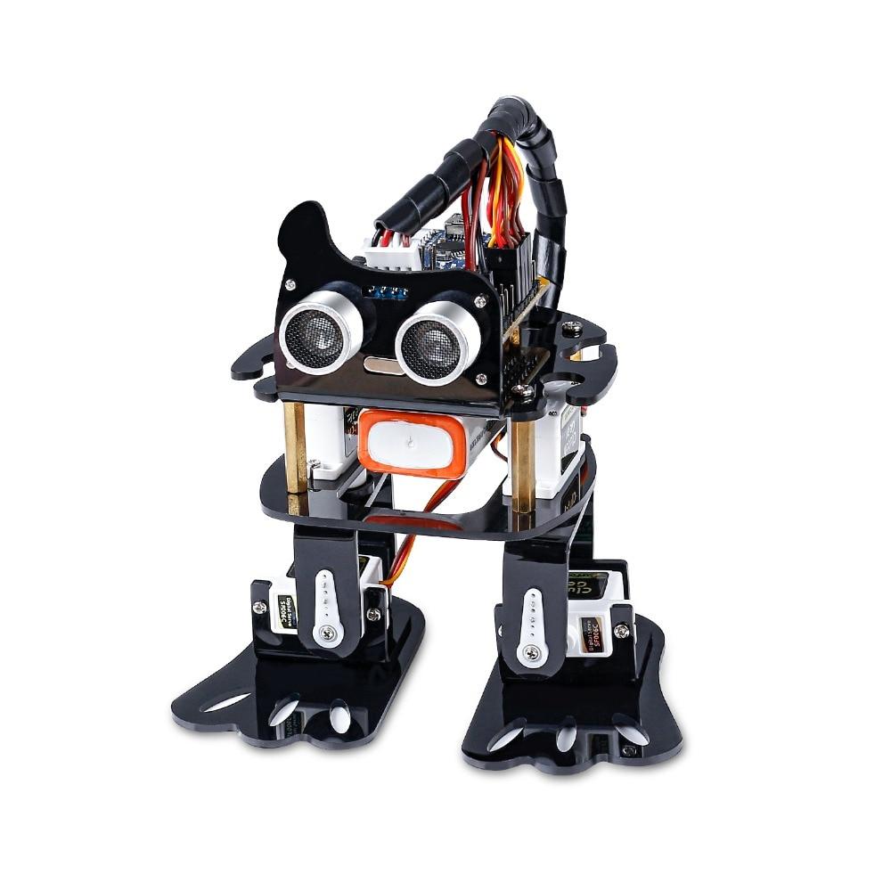 SunFounder لتقوم بها بنفسك 4-dof روبوت عدة-طقم تعلم الكسل لاردوينو ، لعبة إلكترونية للرقص قابلة للبرمجة