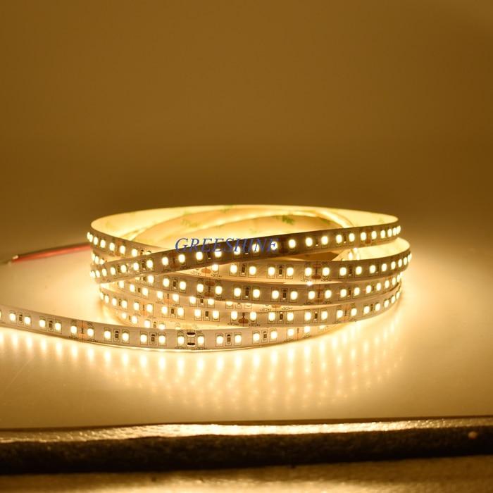 2400LM 22 W brillante 120 leds/M SMD 2835 tira de LED 5 M 12 V 12 V 24 V 2700- 6500 K flexible cinta luces led DHL envío gratis 100 m/lote