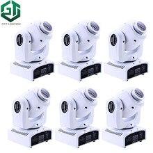 6 pcs/lot 30 W RGBW LED tête mobile Spot lumière faisceau DMX512 Disco DJ partie éclairage blanc couleur shell