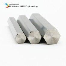 500mm  Titanium Hexagonal bar TA2 Grade 2 side 8mm 10 11 12 14 15 16 17 18 19 20 24mm Industry Experiment Research DIY Ti  bar