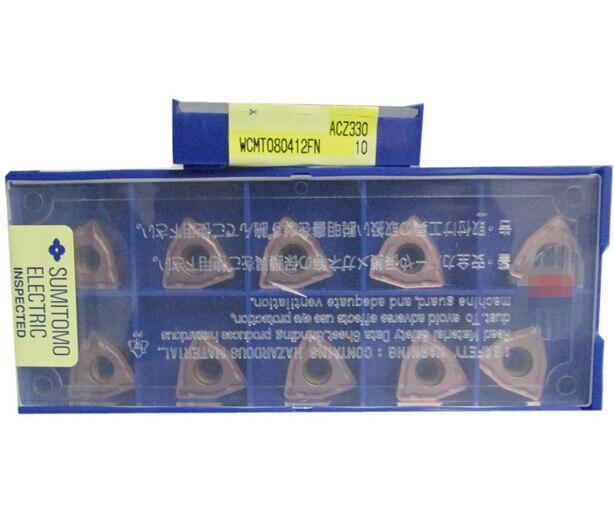 التسوق مجانا 10 قطعة WCMT080412 FN ACZ330 U الحفر كربيد القاطع أدوات تحول كربيد إدراج