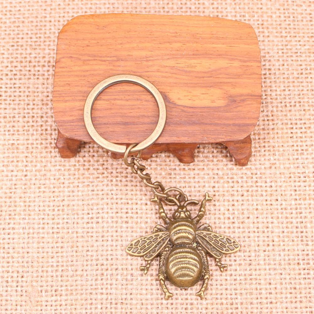 20 piezas nuevo llavero de moda 40x38mm colgantes de abeja de Avispón para hombre, joyería DIY, llavero de coche, Sostenedor del anillo, recuerdo para regalo