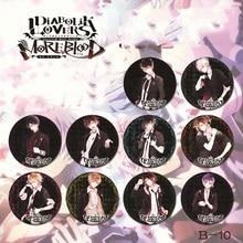 10 pièces/ensemble 2.6 pouces insigne danime DIABOLIK amoureux danime Sakamaki Ayato Kanato Laito Shu Reiji Subaru Kimono broche insigne Fans danime