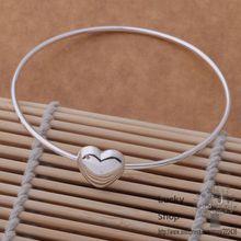 AB054 Silver plated  bangle bracelet,  silver fashion jewelry A single solid bracelet /dgpalxwa bxrakoya