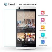 for htc desire 626 dual sim screen protector 2 5d 9h nicotd tempered glass protective film on 626s d626w d626n d626d 626g 4g
