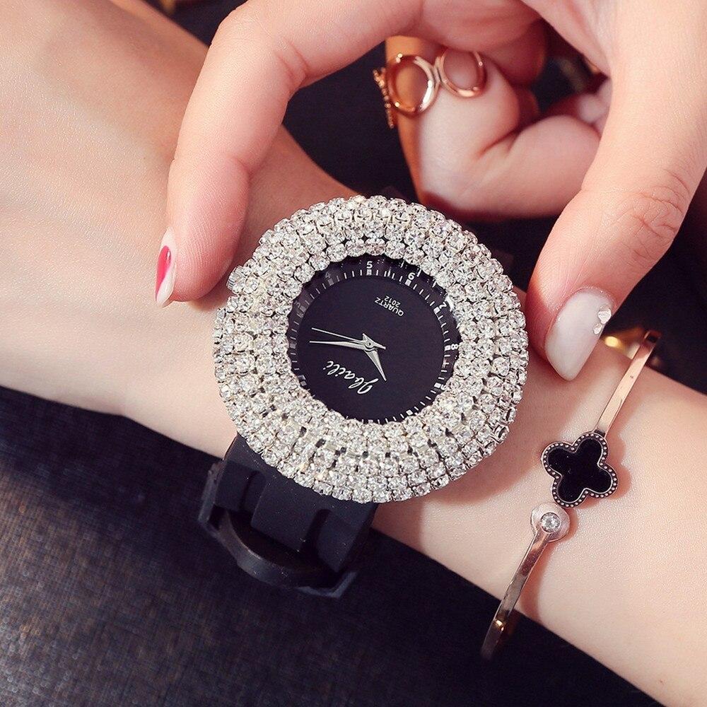 2019 relojes de lujo para mujer, reloj de cristal austriaco para mujer, reloj de pulsera con diamantes de imitación, relojes de pulsera, reloj femenino