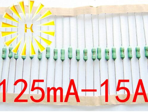 125mA-15A 125/250 в 2,4*7 мм осевой Свинцовый Зеленый предохранитель 2,4x7 0.375A 0.75A 1A 2A 3A 4A 5A 10A Быстрый Удар Пико резистор-предохранитель x 500 шт