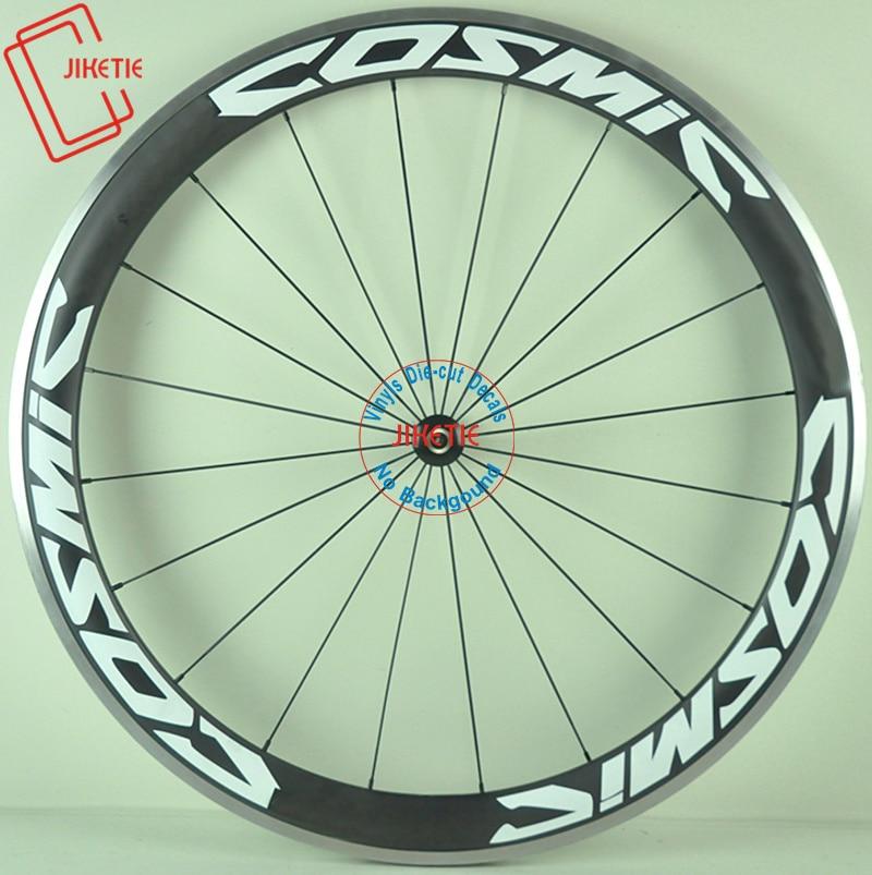 Cósmico 12 fotos 2 rodas/conjunto bicicleta de estrada 700c aro da roda corrida marca adesivos para roda carbono decalques da bicicleta rodas adesivos
