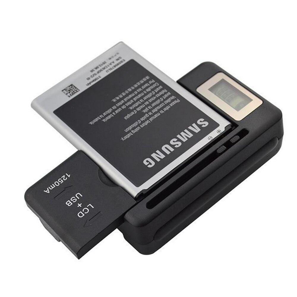 Универсальное зарядное устройство новейшего дизайна с ЖК-дисплеем, регулируемое для камеры Canon Nikon Sony HTC Samsung, батареи для мобильного телефона