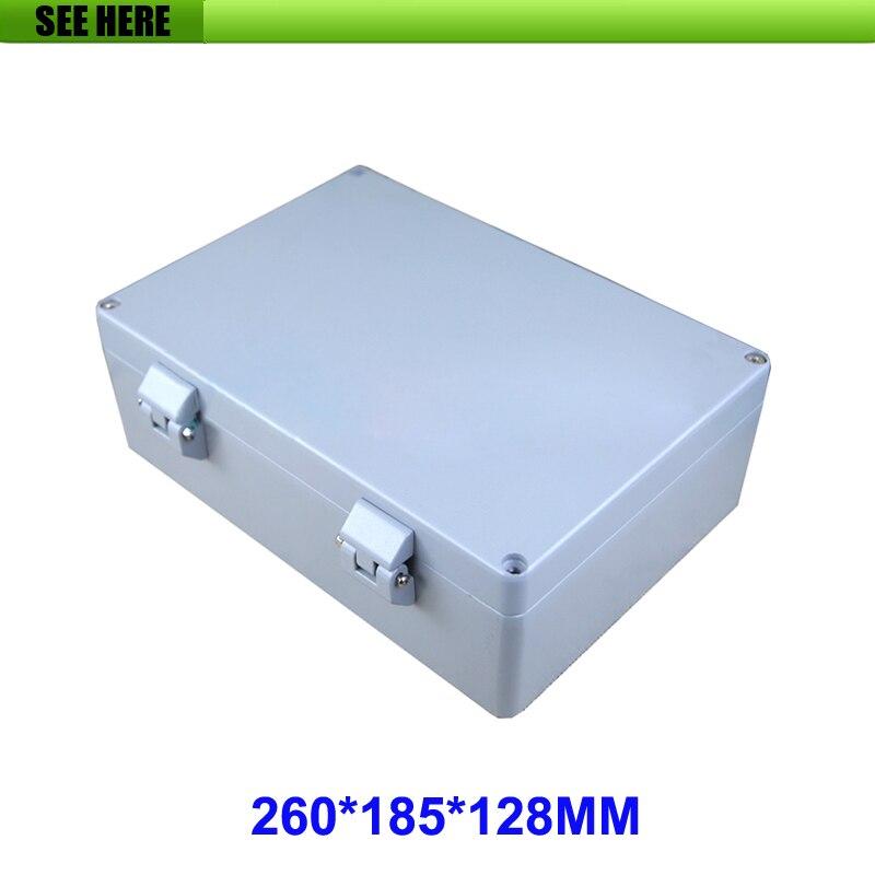 1 pieza ip66 montaje en pared carcasa de aluminio impermeable/caja para electrónica eléctrica 260*185*128mm
