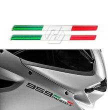 Autocollants 3D italiens pour réservoirs de motos, Stickers italiens, étui pour Aprilia Ducati Monster 959 1199 1299 etc.