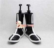 Eau de javel Ulquiorra Cifer noir adulte Halloween Cosplay chaussures bottes X002