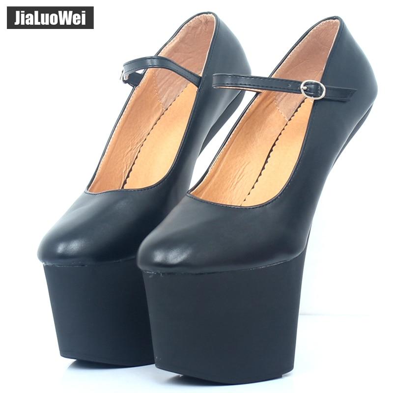 Jialuowei-حذاء بكعب 9 سنتيمتر مع منصة صنم ، أحذية مثيرة ، مضخات كعب قوطي ، مشد ، الهالوين ، 20 سنتيمتر/8 بوصة
