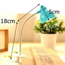 Kids Gift Light 1W Mini LED Flexible Clip Book Lamp Night Light Bedside Lamp Eye Protection Energy Saving Reading Lamp
