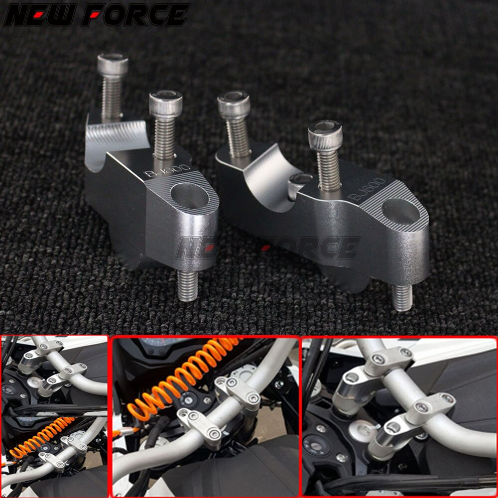 Аксессуары для мотоциклов CNC руль стояки рукоятка зажим Расширение адаптер для Benelli BJ600 BJ600GS BN600 TNT600 BN600i