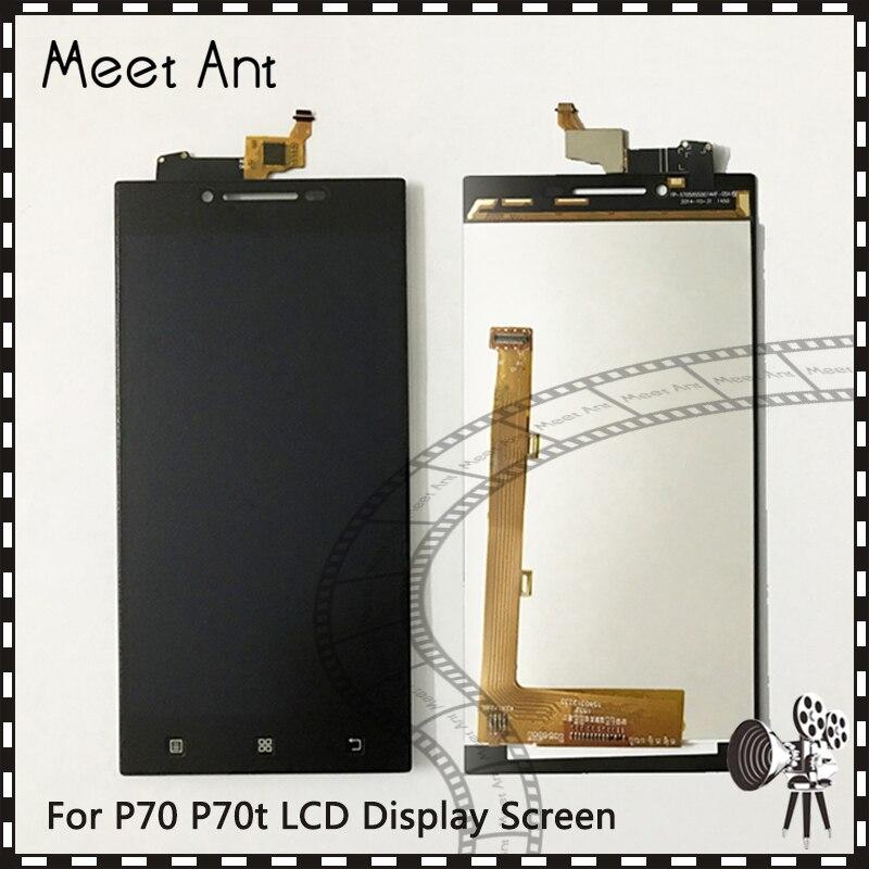 10 pçs/lote alta qualidade 5.0 for para lenovo p70 p70t tela lcd com tela de toque digitador assembléia