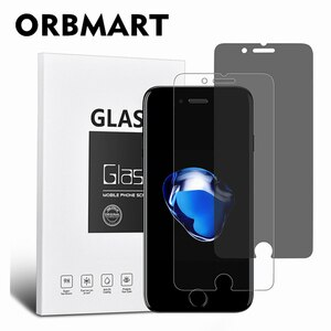 ORBMART 2 Pcs/Set Privacy Screen Protector + HD Ultra-clear Clear Tempered Glass For iPhone 6s Plus Anti Fingerprint