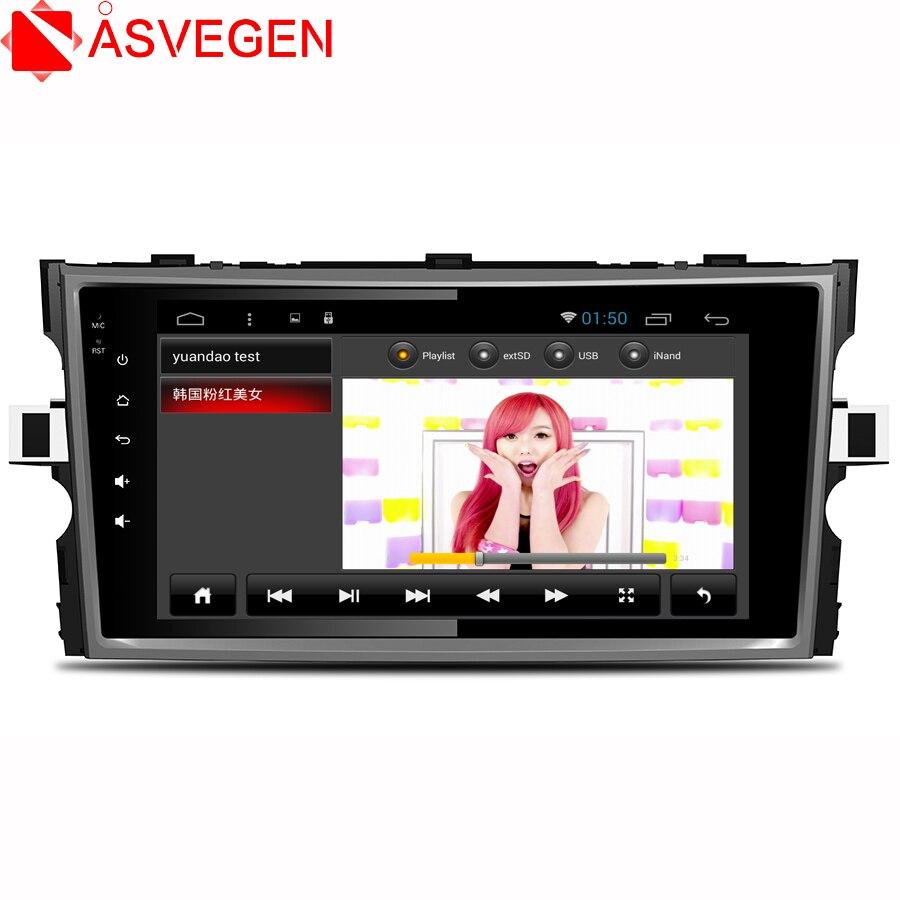 Reproductor de Dvd Asvegen Octa 8 Core para Toyota Verso EZ, Unidad de cabezal de PC de coche, navegación GPS, reproductor Multimedia estéreo de 2 din para coche