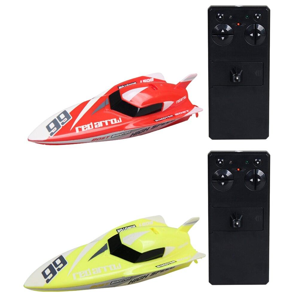 Niños Barco de Control remoto juguetes 4 canales 2,4 GHZ Mini barco eléctrico RC juguetes de agua para niños modelo exquisito juguete de lancha motora
