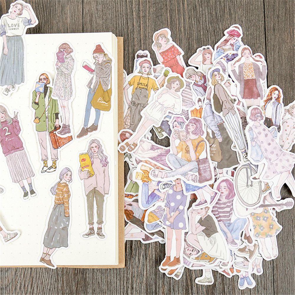 100pcs-di-modo-di-smart-ragazze-adesivi-di-carta-kawaii-di-cancelleria-fai-da-te-scrapbooking-cartoline-decorazioni-guarnizione-autoadesiva-lables