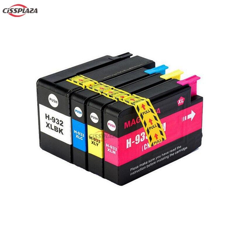 CISSPLAZA 10 cartucho de tinta Compatible para HP 932 XL 933 XL para impresora HP OfficeJet Pro 7510, 7512, 76100, 6600, 6700, 7110, 7610, 7612 impresora