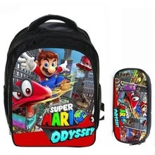 13 Inch Super Mario Bros Sonic Boom Boys Girls School Backpacks Children Bagpack Kids Cartoon Bags Mochila Pencil Bag Sets