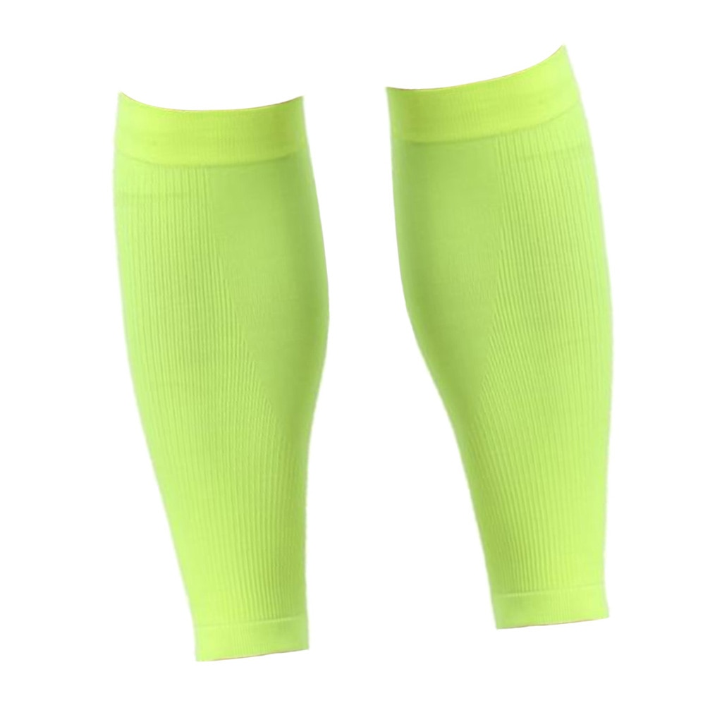1 Pair Sports Calf Support Compression Sleeves Legs Protector Brace M Green