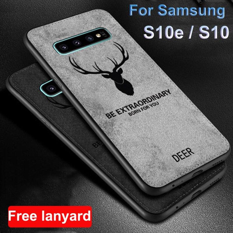Para Samsung galaxy S10 S10e funda de tela suave para Samsung S10e S10 e G9700 funda SM-G9700 tela de ciervo + carcasa de TPU para teléfono