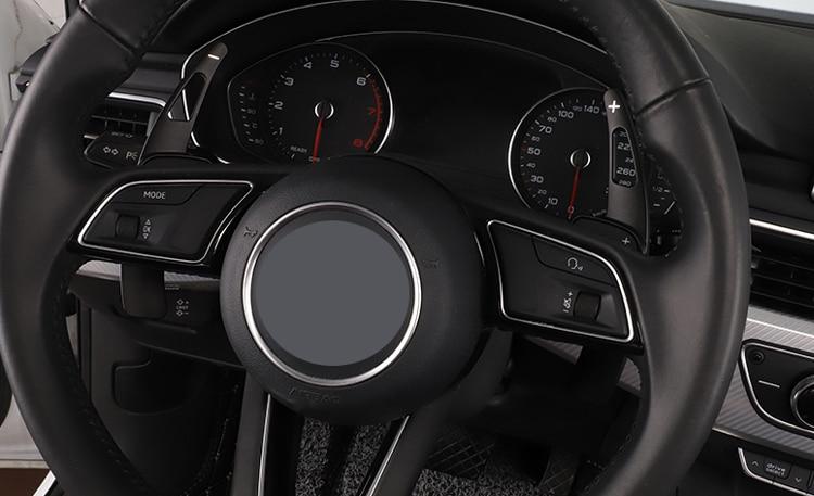 For Audi new TT(2015-),TTS (2016-),Q7(2016-) A4 B9 Aluminum alloy Steering Wheel Shift Paddle Extension 2 PCS