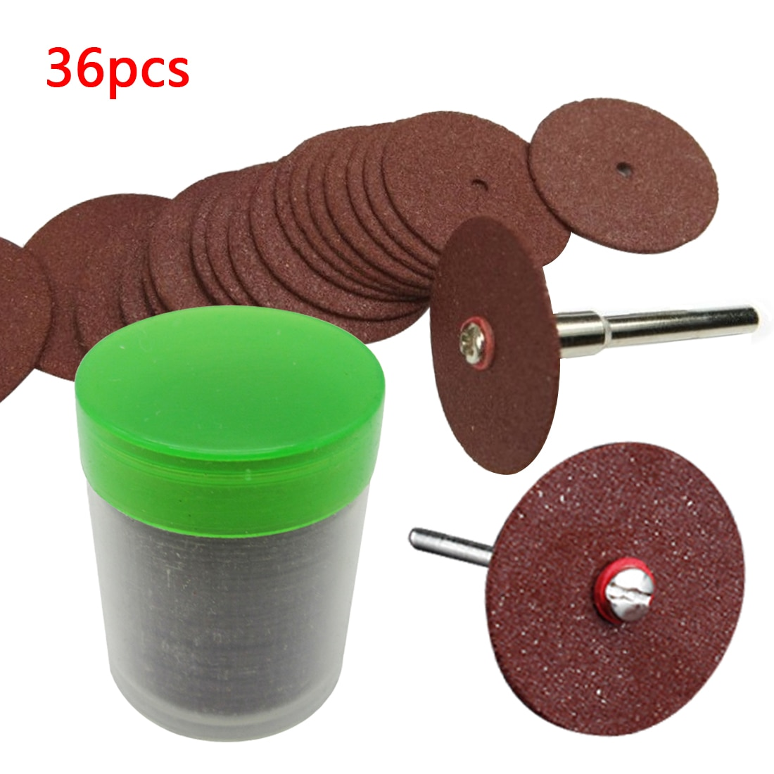 36 vnt pjovimo diskų diskinių pjūklų šlifavimo diskas, skirtas Dremel rotacinių įrankių šlifavimo diskams