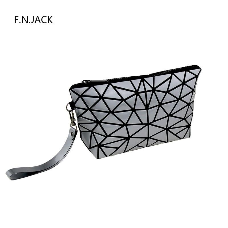 F. N. JACK monederos para mujer bolso impermeable bolsos geométricos coloridos carteras plegables para damas Minibag cartera grande 2019