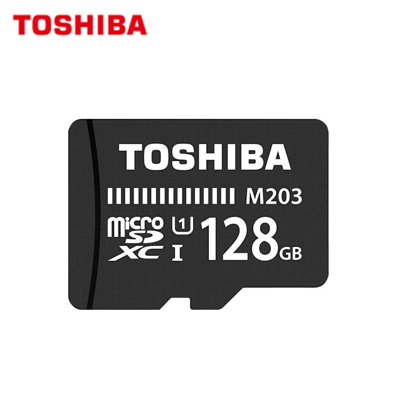 TOSHIBA 128GB tarjeta de memoria Flash U1 tarjeta Micro SD de 64GB UHS-I tarjeta Max 100 MB/S SDXC 32GB 16GB SDHC completa HD TF tarjeta para Android