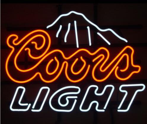 العرف COORS ضوء الجبال الزجاج النيون ضوء تسجيل البيرة بار