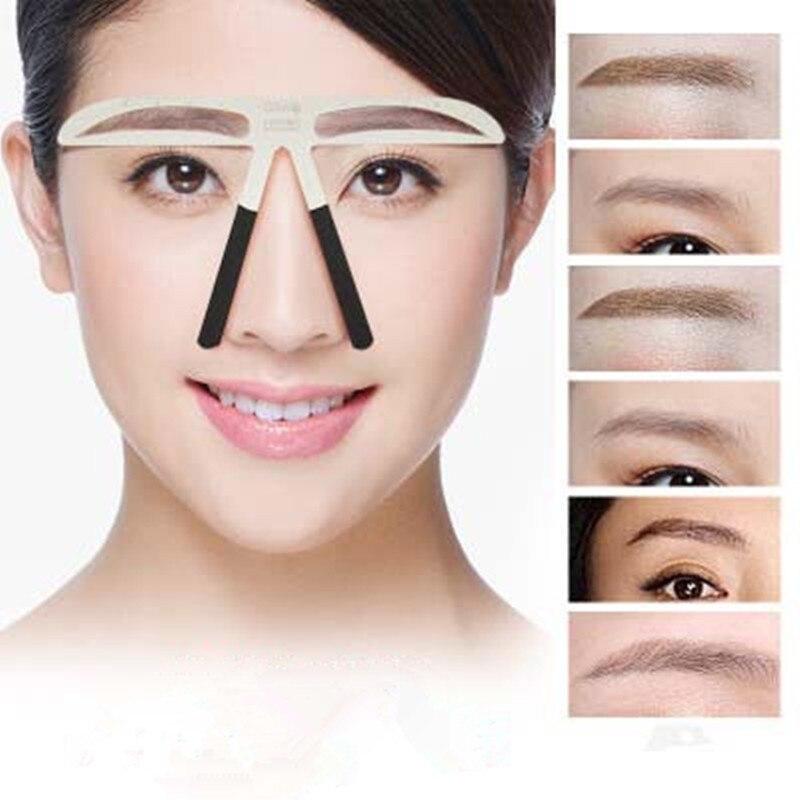 Herramientas de maquillaje ceja tatuaje Shaper Stencil ceja fácil de usar Kit de maquillaje DIY plantilla Shaping 4 estilo