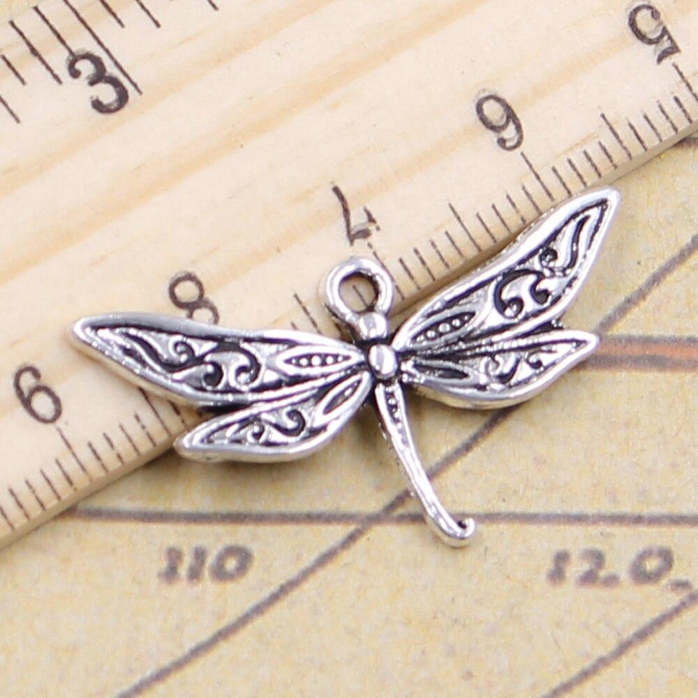10pcs Charms Dragonfly 31x18mm Tibetan Silver Color Pendants Antique Jewelry Making DIY Handmade Craft Pendant