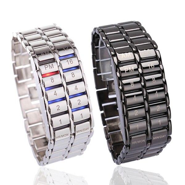 Luxfacigoo женские и мужские бинарные светодиодные цифровые кварцевые наручные часы для Дня отца модный креативный подарок TT @ 88