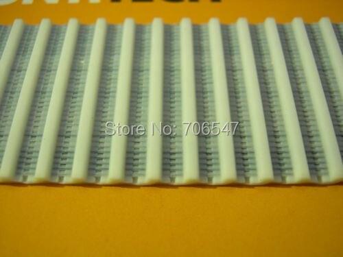 Envío Gratis 50 metros T2.5 ancho 10mm dientes T Industrial PU T2.5-10 de correa de distribución de extremo abierto para RepRap Prusa Huxley Mendel CNC
