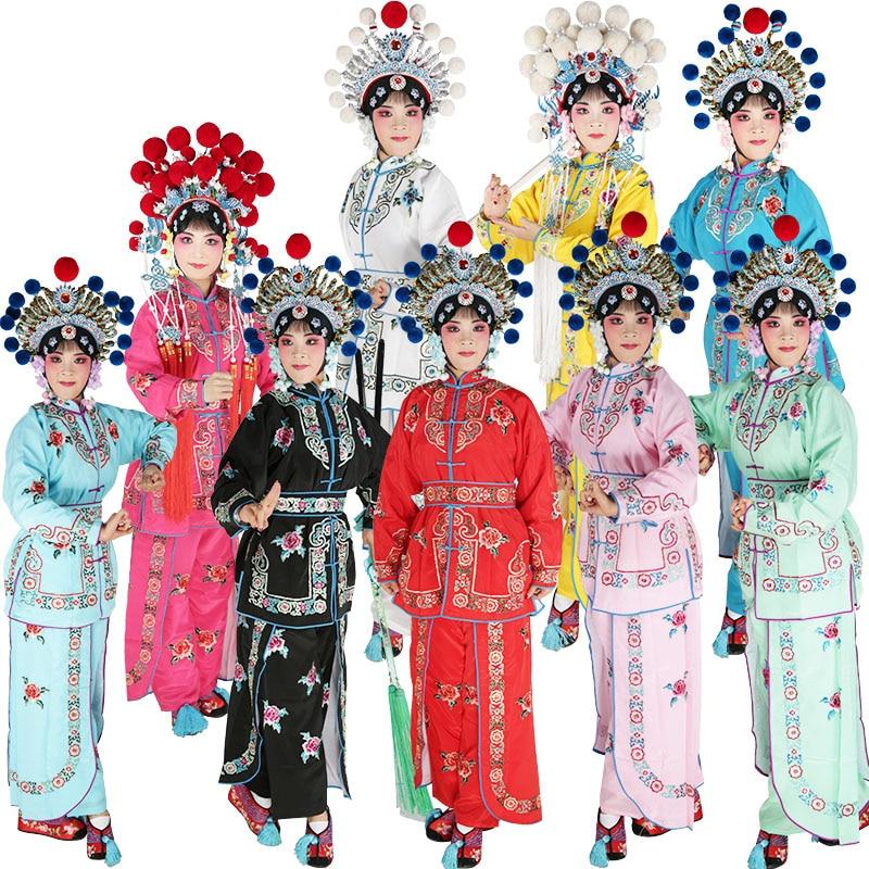 Женский костюм бойца для сцены и оперы Хэнань Хуанг Мэй Сычуань Юэ опера дао мА дан платье для сцены