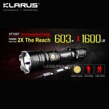 Магнитный зарядный светодиодный фонарик KLARUS XT12GT CREE XHP35 HI D4, светодиодный тактический фонарь с оригинальной батареей 3600 мАч