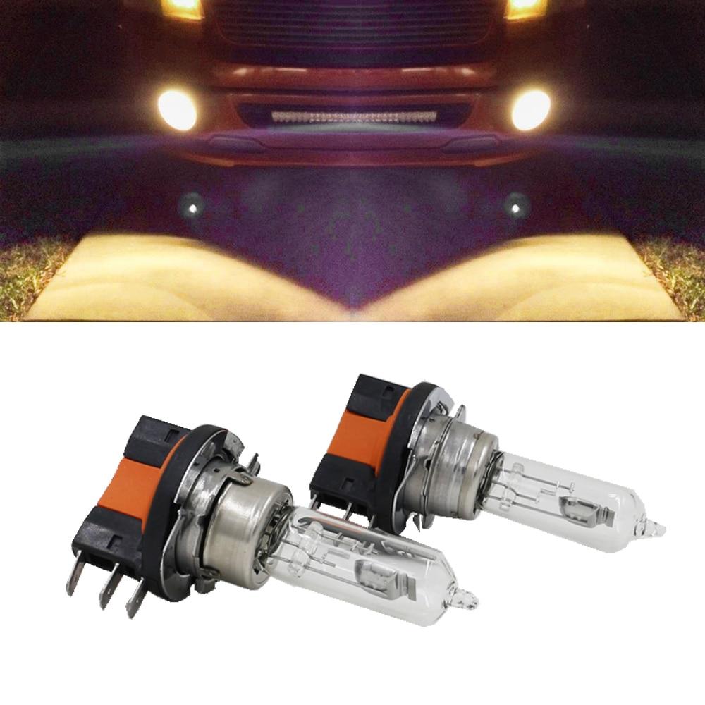 2x H15 Halogen Lamp 15/55W 12V Fog Lights/High Beam Headlig bulbs 4300K-5000K Clear Glass Car Light Source