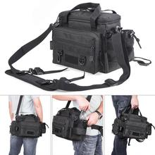 Waist Shoulder Messenger Outdoor Fishing Bag Multifunctional Waterproof Oxford Cloth Fishing Tackle Reel Lure Camera Storage Bag
