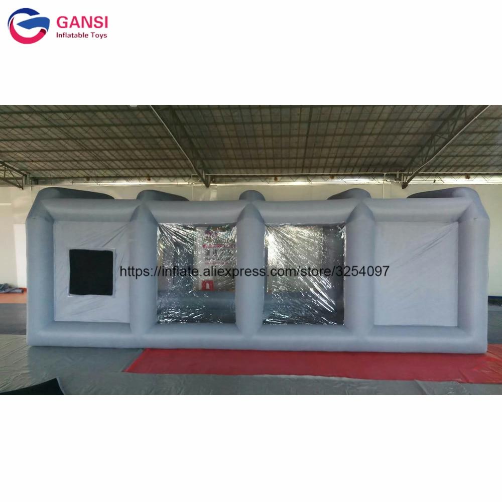 7*4*2.5 متر شحن أجهزة نفخ الهواء نفخ طلاء السيارات خيمة تظليل حجيرة رش قابلة للنفخ مع تصفية نظام