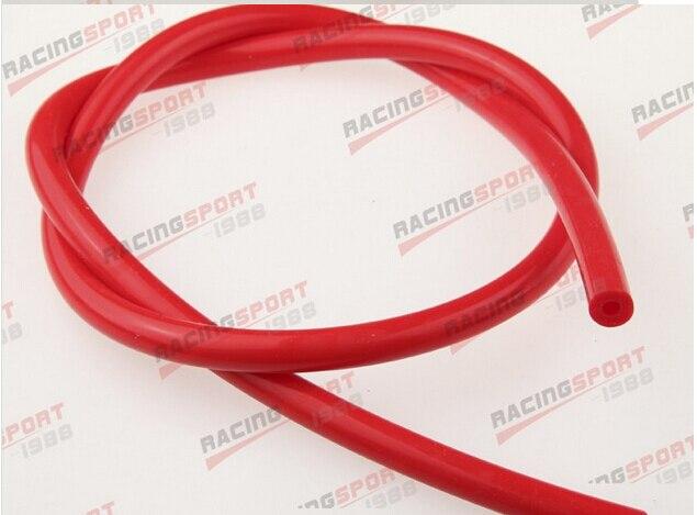 "4mm (5/32 "") Silicone Mangueira de Vácuo RED Cachimbo"" 10 Pés ""High Performance"