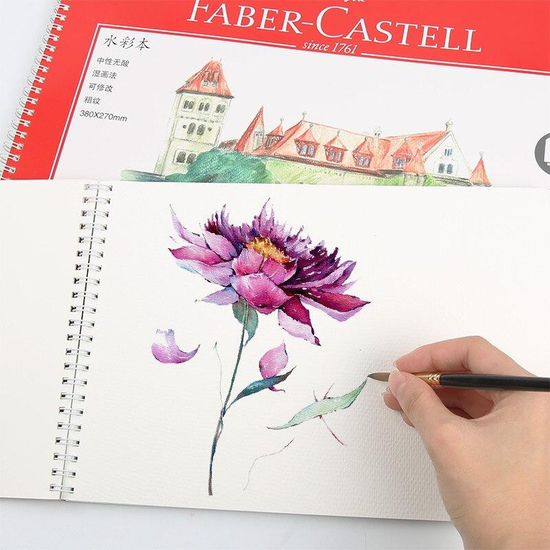 FABER-CASTELL faber-casdell-Acuarela 16k 8k, bosquejo de acuarela de papel soluble en agua, plomo 230g, libro de bocetos de arte, agua sólida