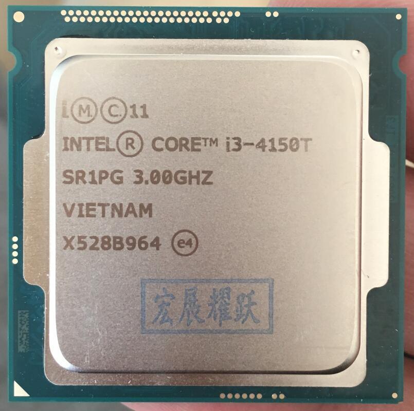 Processador intel core i3 4150 t I3-4150T lga1150 22 nanômetros duplo-núcleo 100% funcionando corretamente processador desktop