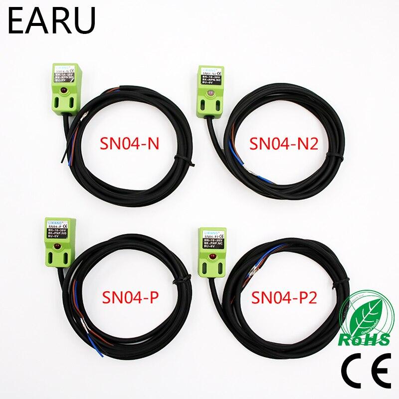 Capteur de proximité inductif SN04   4MM DC 6-36V, capteur de proximité, DC NPN PNP NO NC 4MM DC
